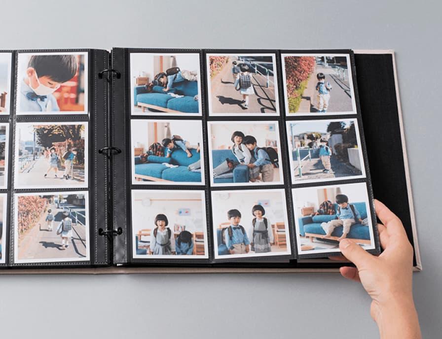黒台紙で、 写真が映える