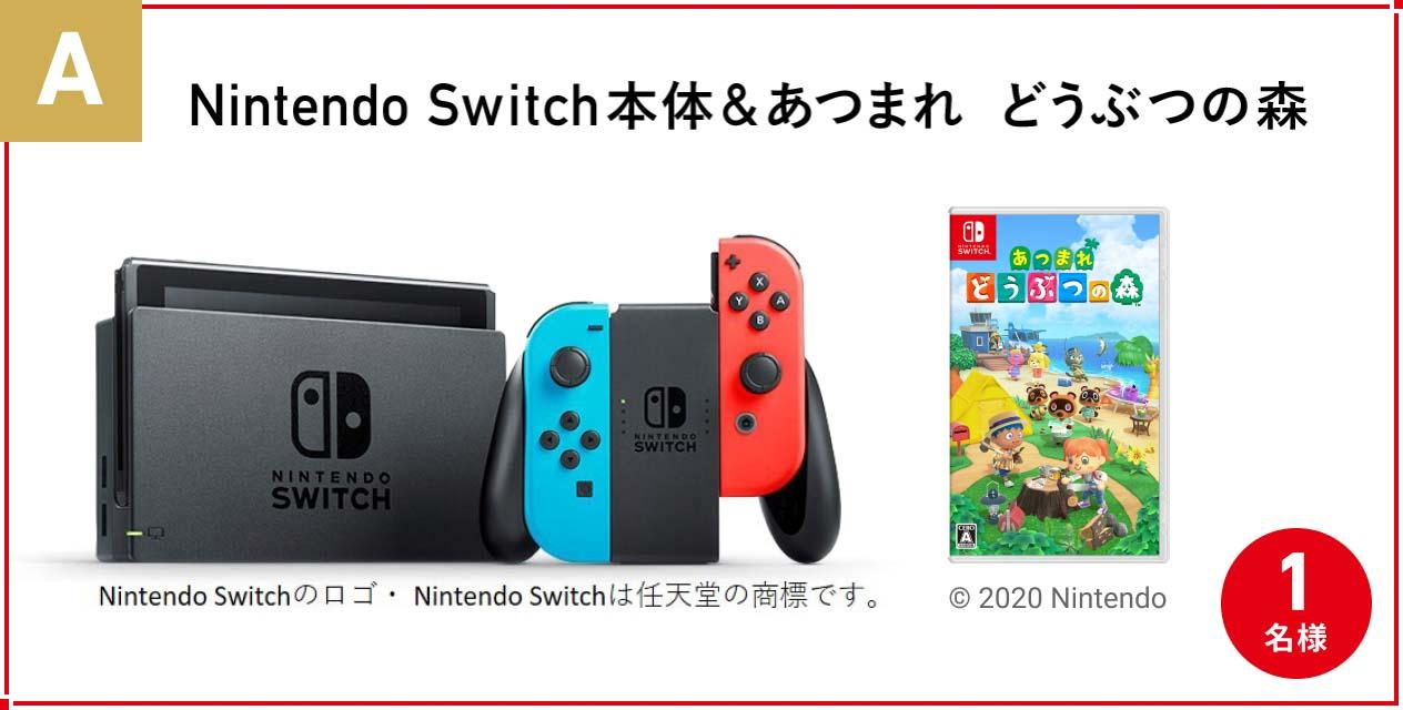 A. 『Nintendo Switch&あつまれ どうぶつの森』 1名様