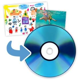 紙・写真をCDにデータ保存のイメージ