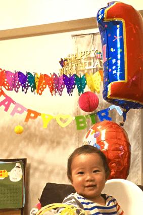 1歳の誕生日2